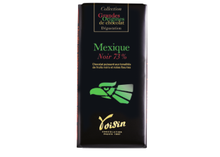 Mexican tablet - Powerful chocolate with dark fruit tones and floral notes. 73% cocoa