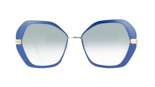 High-Line VS4301 - Inspired by the Highline of New York, the elegant sunglasses in metal with a retro flair feature a touch of contemporary colour on the moulded front, to step into the new decade with style and vitality. Temples in shiny gold metal and front in matt navy blue. Caliber 56-16 | temple 140 mm