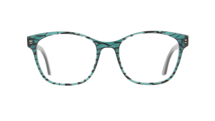 Macro V1373 - VANNI exclusive acetate that breaks apart the material to expose its molecular structure, in an extra-refined version showcasing the MACRO minute design on a base of crystal green. Size 54-14 | temples 145 mm