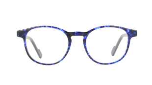 VANNI Uomo V2107 - The man who wears VANNI accepts the challenges of a modern aesthetic, looking for the comfort of the light-weight frame combined with a style that rejects cliché. The acetate glasses feature a classic revisited tortoiseshell in shades of vivid blue. Caliber 51-20 | temple 145 mm