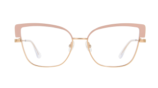 High-Line V4213 - Inspired by the Highline of New York, the elegant eyeglasses in metal with a retro flair feature a touch of contemporary colour on the moulded front, to step into the new decade with style and vitality. A combination of shiny rose gold metal and matt pink. Caliber 56-16 | temple 140 mm