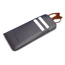 Card holder slim case - Superb card holder case for glasses that allows you to STORAGE in complete safety:  -Your pair of glasses (optical or sunglasses)  -Your Credit cards & cards (up to 4 cards)  -Your banknotes  -Made of full grained Leather  -Designed in France  THE CONCEPT  This glasses case is made of grained full grained grey cowhide leather . It is the ideal companion to protect your cards and glasses! With its embossed logo and sleek design, this ultra-innovative eyewear case will be your daily must-have.  It can contain 4 credit cards, tickets and protect your pair of glasses.  DESCRIPTION  Made of full grained Leather  Suede lining  2 card slots / up to 4 cards  1 SAFE case to store and protect your glasses  Embossed logo on the front  Designed in Paris  Handmade in Bali in our specialized workshop  SIZE AND WEIGHT  165 x 80 mm / 50 g