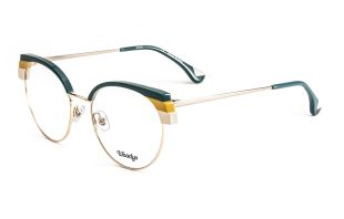 JELLYFISH - Metal and italian acetate frame with triple laminated front Metal temples with acetate end tip Frame size: 52-18-140 Adjustable nose pads German OBE hinges 4 references available
