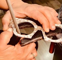 ACETATE LEATHER AND PASSION - bespoke eyewear totems accessories and passion