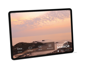 Smart Mirror Mobile - Smart Mirror Mobile on Ipad is a multifunction application that brings together all the functionalities of large autonomous devices: taking measurements, simulation of lenses and treatments, choice of frames, vision tests.