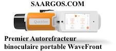 QuickSee - QuickSee est le premier autoref portable binoculaire. Il utilise l'aberrométrie du front d'onde. Les études menées montrent que le recours à cette technologie le rend plus précis que les autres appareil de sa catégorie. Portable, précis et facile à utiliser, seulement 10s lui sont nécessaire pour relever les acuités des patients.