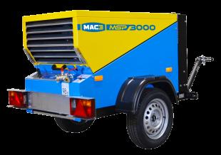 MSP3000 - Compresseur mobile diesel - La gamme de compresseur MSP est reconnue par les professionnels de la construction pour sa fiabilité et ses performances. Personnalisables et adaptables, les modèles de compresseurs pour les zones régulées sont équipés de la motorisation Stage V.