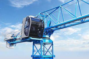 grue à tour - Elle convient également pour une utilisation dans des structures construites grâce à la technologie de coffrage de tunnel avec une capacité de charge de 8-10-12 tonnes.