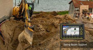 Leica iCON iXE3 - Solution de guidage 3D de pointe pour travaux d'excavation Le Leica iCON excavate iXE3 recourt à des modèles de CAO en 3D et à la technologie GNSS la plus récente pour guider l'opérateur. Des informations sur la conception et des indications sur l'avancement des travaux de déblayage/remblayage s'affichent en temps réel sur le boîtier de commande en cabine, vous permettant de réaliser rapidement les travaux d'excavation conformément au modèle de référence. Ce système élimine la nécessité de vérifier les cotes, augmentant dans le même temps la sécurité et la productivité. Les géomètres n'ont plus besoin d'investir la zone des travaux.