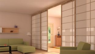sliding doors japonese style - Slidind doors are ideal for use as room dividers or as doors for closets or wardrobes