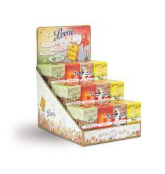 PASTILLES LEONE DRINKS - Un display Drinks Leone composé de parfums assortis : - Spritz - Martini - Cédrat - Absinthe