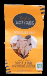 Crack'in Tomme aux 7 saveurs - Ces saveurs composées d'ail, oignon, basilic, poivrons doux, poivre de cayenne, thym et tomate accompagneront parfaitement vos apéritifs.