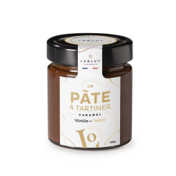 Pâte à Tartiner Vanille de Tahiti 220g - Let yourself be enchanted by this natural vanilla flavor that is released upon tasting. A perfect balance between the authenticity of caramel and the sweetness of Tahitian vanilla, which brings this subtle and delicate taste in the mouth.