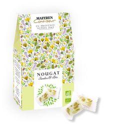 Nougat Tendre &  Bio - Un nougat Tendre & Bio, riche en amandes et miel. Une véritable recette savoureuse composée d'ingrédients bio de qualité.