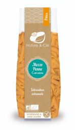 Mezze penne curcuma - Pâtes artisanales italiennes • véganes • sans gluten