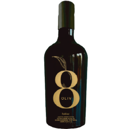 OLIV8  Sublime - It inherits its name as it combines the variants Cobrançosa, Verdeal,Transmontana, Madural, Santulhana and Arbequina. Extracted from the cold, predominantly ripe olive, it presents a gentle texture through which reveals sweet notes, saying goodbye with a delicate bitter hint. It inherits its name as it combines the variants Cobrançosa, Verdeal Transmontana, Madural, Santulhana and Arbequina. Extracted from the cold, predominantly ripe olive, it presents a gentle texture through which reveals sweet notes, saying goodbye with a delicate bitter hint. It is a fruity green olive oil, predominantly ripe, soft and sweet in the mouth, slightly bitter and spicy.