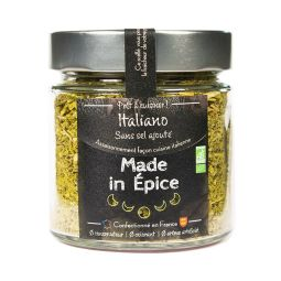 Italiano - Mix of spices and organic aromatic herbs specializing in Italian cuisine