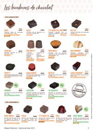 """Les bonbons de chocolat - Les chocolats de la Maison Planchot sont 100% pur beurre de cacao et fabriqués de manière artisanale dans le respect des méthodes traditionnelles. Ils sont conditionnés soit en """"prêt à conditionner"""" (PAC), c'est donc un blister à démouler. Soit en """"prêt à servir"""" (PAS), les chocolats sont placés sur un plateau noir, directement prêts à la mise en vitrine."""