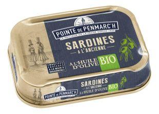Sardines in organic extra virgin olive oil 115g