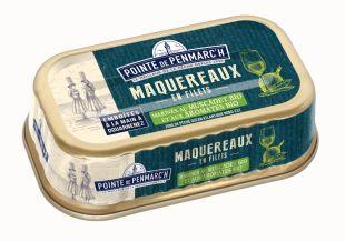 Mackerel fillets with white wine and organic aromatics 100g