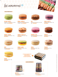The macaroons - The Maison Planchot macaroons are available in several flavors, each one as good as the next! The macaroons weigh around 16g, which is a little more than a classic macaroon, to satisfy the most greedy! There are 13 scents in total.