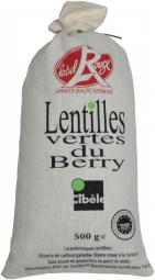 Lentilles vertes du Berry - La Lentille Verte du Berry est reconnaissable à sa douce saveur de châtaigne, mais aussi à son excellente tenue à la cuisson et à sa qualité de tri.