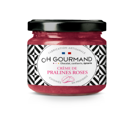 PRALINE SPREAD - our pink praline spread is unique due to the combination of smothness et by small crunchy pieces of praline. we developed a totally new packaging for it.