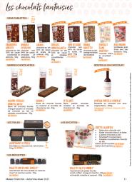 Les chocolats fantaisies - La Maison Planchot propose une gamme de chocolats fantaisies :  les demi-tablettes et les barres chocolatées, les tuiles et les sucettes, les réglettes de mini-canelés, les réglettes de palets fourrés et les biscuits chocolatés.