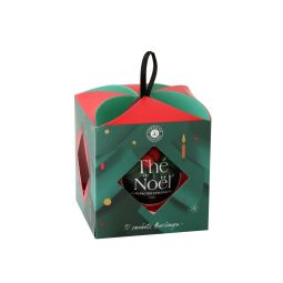 Christmas Tea® bauble - Bauble with 10 Berlingo® tea bags : Christmas Tea® is the original and exclusive blend for Season Greetings. According to the unique in-house steam-flavouring process, Christmas Tea® unveils subtle flavours of cherry and almond dotted with delicate cornflower petals. A colourful blend.
