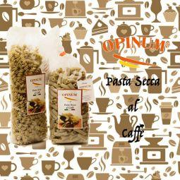 PASTA AL CAFFÈ 500g - Pâtes sèches un produit exclusif Opinum il Caffè, obtenu à partir de fine semoule de blé dur et de café 100 % Arabica sélectionné.