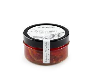 ORMEAUX MARINES AU PIMENT DE GROIX - Délicatement marinés dans de d'huile de pépins de raisins dans laquelle sont infusées les échalotes, l'ail et le piment de Groix, nos Ormeaux Marinés au Piment de Groix sont une véritable découverte culinaire. Il s'agit d'une recette à déguster en tapas pour un apéritif original et unique. Le goût iodé de l'ormeau associé à cette épice endémique de l'île de Groix ravira vos papilles !
