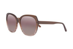 LOCKER&FLOCKIG - the precious ladies acetate sunglass in a little oversize shows up in the current trend colors...here in brown-rose gradient. The slightly mirrored lenses match the frame colors perfectly.