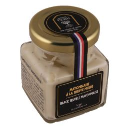 Black truffle mayonnaise 3% - A creamy mayonnaise with authentic flavour, delicately combined with black truffle. To be enjoyed with hard-boiled eggs, crustaceans, a fish, vegetable sticks.