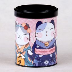 Stackable ilustrated tea cannister