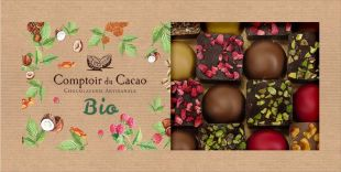 GIFT BOX DOMES AND FLAKY PRALINE SQUARES ORGANIC
