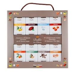Travel box - A generous box of 48 chocolate mini-tablets for even more temptation, discoveries, and moments of sweetness and sharing.