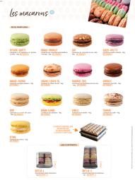 Les macarons - Les macarons de la Maison Planchot sont déclinés en plusieurs parfums tous aussi bons les uns que les autres !  Les macarons pèsent environ 16g soit un peu plus qu'un macaron classique, pour satisfaire les plus gourmands !  Il y a 13 parfums au total.