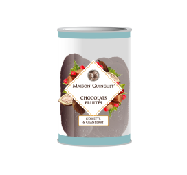 Fruity chocolates : hazelnuts, cranberries - Delicious chocolates sprinkled with hazelnut and cranberry.