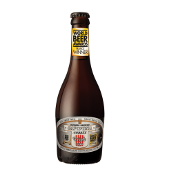 """CAP D'ONA AMBREE ORGANIC TRIPLE - Pure Belgian-type organic Amber beer, refermented on lees and matured in dry hopping. This triple copper beer has malt power, aromatic complexity and perfect roundness. A little gem of pleasure voted """"best Belgian French type beer""""."""