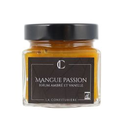 "Manguo Passion Amber Rum and Vanilla - The exotic and sweet taste of Amélie mangos meets the acidulous notes of the passion fruit to deliver a blend of flavours similar to the ""punch arrangé"" with the incorporation of the amber rum."