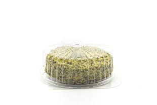 Gâteau à la pistache - Un gâteau à la pistache, recouvert de pistache hachée et fourré de crème de pistache.  A déguster lors de n'importe quel événement (un anniversaire, un dîner, etc.), une saveur irrésistible pour tous les petits et grands.
