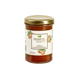 Confiture de fraise de Dordogne - Confiture à base de 65% de fraise de Dordogne. Une confiture de nos vergers élaborée en France.