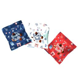 THE FRENCH TASTE - A new snacking item comes in our Mathez snacking range : « The French Taste » pocket bags  With this new snacking item, Chocolat Mathez plays the 100% French card in miniature version. A packaging which gets its inspiration from the French cultural and Gourmet codes, spotlighting the Made in France production.  A nomadic format that fits perfectly into the world of ready-to-go and ready-to-eat products. The packet accompanies you all day long thanks to its 6 small truffles proposed in a design packaging.  Let taste our 3 yummy recipes : plain, hazelnuts and caramel offered in blue, white and red coloured mini bags !!