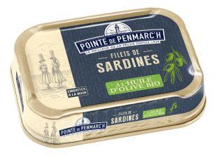 Sardine fillets in organic extra virgin olive oil 100g