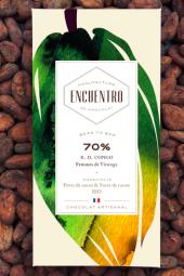 70% RD Congo organic chocolate bar