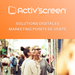 ACTIV'SCREEN® - Digital signage is an excellent tool for capturing attention, generating traffic and enhancing the brands, services and expertise of an optical point of sale. The digitalization of the sales process allows a better readability of the offer as well as personalized communication. At the heart of the digitalization process is ACTIV'SCREEN®'s dynamic, digital signage solution, which boosts the client experience by enriching their buying process thanks to attention-grabbing media tools.  ACTIV'SCREEN® is a ready-to-use solution allowing opticians to increase their digital communication: - Large choice in professional screens adapted to different needs; - Simple and intuitive web interface to manage the screens in the point of sale; - 1000+ animations available to liven up the shop window and its interior.