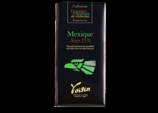 Tablette grande origine Mexique - Chocolat puissant aux tonalités de fruits noirs et notes fleuries. 73% de cacao