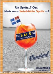 """Saint Malo Spritz - The """"Saint Malo Spritz"""" : a top version of the Italian Aperitivo with aromas of cinchona, bitter orange and gentian, which is both balanced in sugar and bitterness. And for even more freshness, a grapefruit and ginger version is also available!"""