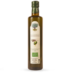 DOURO SUPERIOR OLIVE OIL BIO EXTRA VIRGIN - Extracted from olives produced biologically.  Our olive oils have a low and very low acidity and are yellow and light green in colour. They smell and taste like fresh fruits, sometimes with hints of almond, with remarkable sensations of bitterness, green and spicy. Olives originate from the region (varieties that compose the Trás-os-Montes Protected Designation of Origin: Cordovil, Verdeal, Madural and Cobrançosa). They can be used for various culinary applications such as seasoning, cooking and also frying.