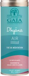Dhyana AIR - Light as the air, swept away by the wind, feel the pleasure of travelling at will in a universe of possibilities and exploring the world without restrictions. This airy recipe on a base of green tea, with floral flavours of violet, buchu and elderflower invites you to break free and take flight with a few delicious mouthfuls.